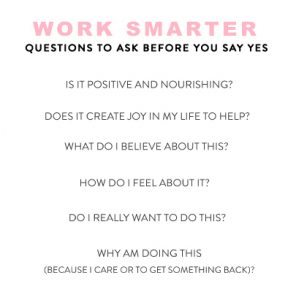 Questions To Ask Before Saying Yes