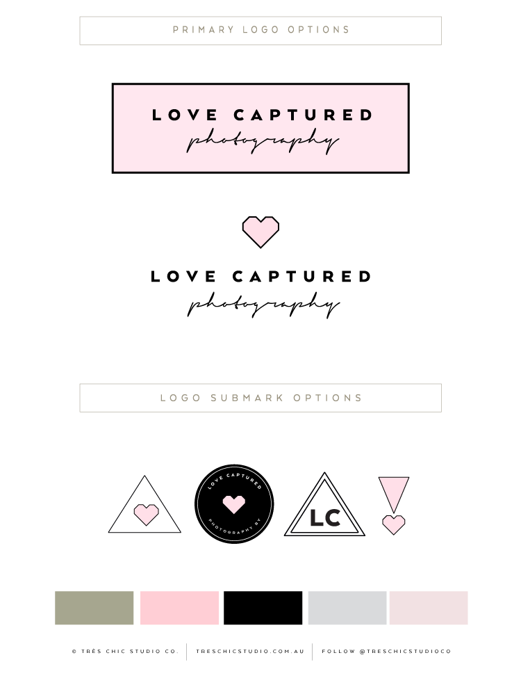 Tres Chic Studio Co | Luxe Premade Logo Design